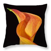 Yellow Calla Lily Flower 53 Throw Pillow
