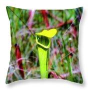 Yellow Cap Throw Pillow