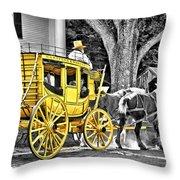 Yellow Carriage Throw Pillow