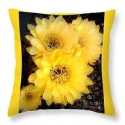 Yellow Cereus Throw Pillow