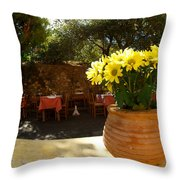 Yellow Chrysanthemum  Throw Pillow