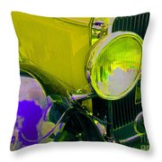 Yellow Cloud Reflection In Neon Throw Pillow