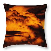 Clouds Time Throw Pillow