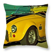 Yellow Cobra Throw Pillow