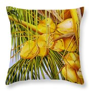 Yellow Coconuts- 01 Throw Pillow