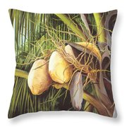 Yellow Coconuts From The Tropics  Throw Pillow