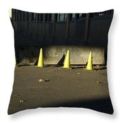 Yellow Cones Throw Pillow