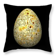 Yellow Conglomerate Egg Throw Pillow