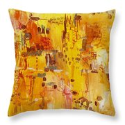 Yellow Conundrum Throw Pillow