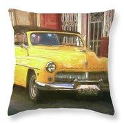Yellow Convertible Mercury Throw Pillow