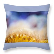 Yellow Coral Reef Macro Throw Pillow