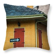 Yellow Cottage French Quarter- Nola Throw Pillow