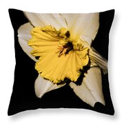 Yellow Daffodil Throw Pillow