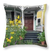 Yellow Daisies In Charleston Throw Pillow