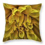 Yellow Dinner Plate Dahlia Throw Pillow