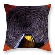 Yellow Door In The Round Throw Pillow