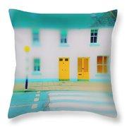 Yellow Doors Throw Pillow
