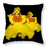 Yellow Dresses Throw Pillow
