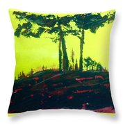 Yellow Dusk Throw Pillow