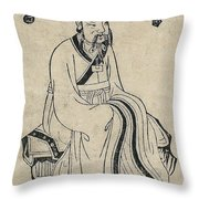 Yellow Emperor, Legendary Chinese Throw Pillow