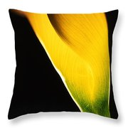 Yellow Essence Throw Pillow