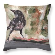 Yellow Eyed Bird Throw Pillow