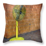 Yellow Fan Throw Pillow