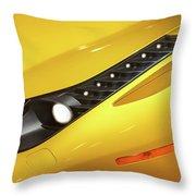 Yellow Ferrari 2013 Throw Pillow