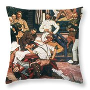 Yellow Fever, Cuba, C1900 Throw Pillow