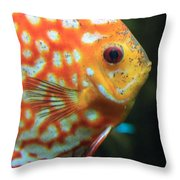 Yellow Fish Profile Throw Pillow