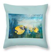 Yellow Fish Yellow Fish Throw Pillow