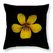 Yellow Flower 1 Throw Pillow