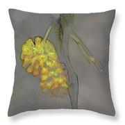 Yellow Flower Art Throw Pillow