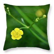 Yellow Flower Buttercup Throw Pillow
