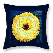 Yellow Flower H A Throw Pillow