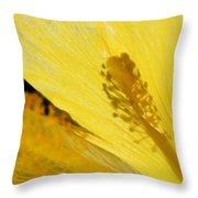 Yellow Flower - Hibiscus Shadow - Sharon Cummings Throw Pillow