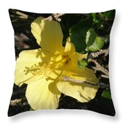 Yellow Flower In The Shade Throw Pillow