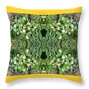 Yellow Flower Mandala 1 Throw Pillow