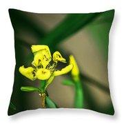Yellow Flowers I Throw Pillow