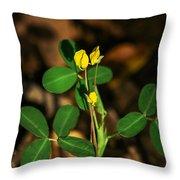 Yellow Flowers II Throw Pillow