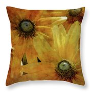 Yellow Flowers Impression 2937 Idp_3 Throw Pillow