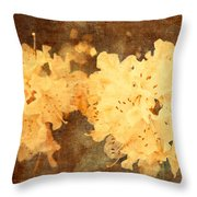 Yellow Flowers In Bloom Throw Pillow