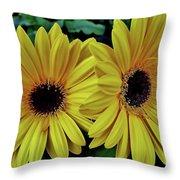 Yellow Gerberas Throw Pillow