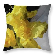 Yellow Glad 092217 1a Throw Pillow