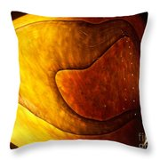 Yellow Glass Abstract Throw Pillow