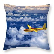 Yellow Glider Throw Pillow