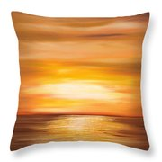 Yellow Gold Sunset Throw Pillow