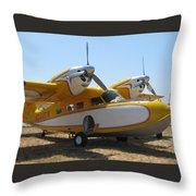 Yellow Goose Throw Pillow