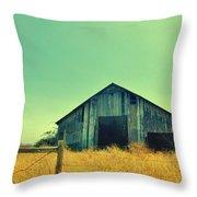 Yellow Grass Throw Pillow