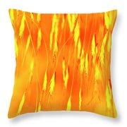 Yellow Grass Spikes Throw Pillow